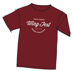 Kickin' Chicken Wing Fest t-shirt