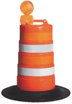 Orange Construction Barrel